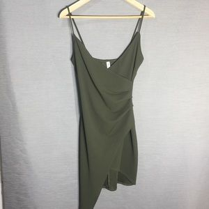 Room service army green bodycon cami dress